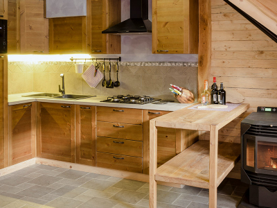 Wooden Chalets - Equipped kitchen